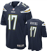 Chargers - P. Rivers #17 Home Jersey